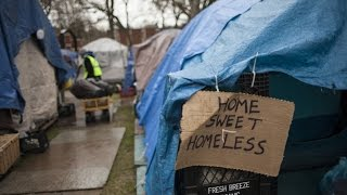 Residents react as their tent city is dismantled; 'I just want to survive'