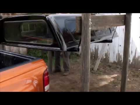 Truck Bed Shell >> Use a Sling to Remove a Truck Topper - YouTube