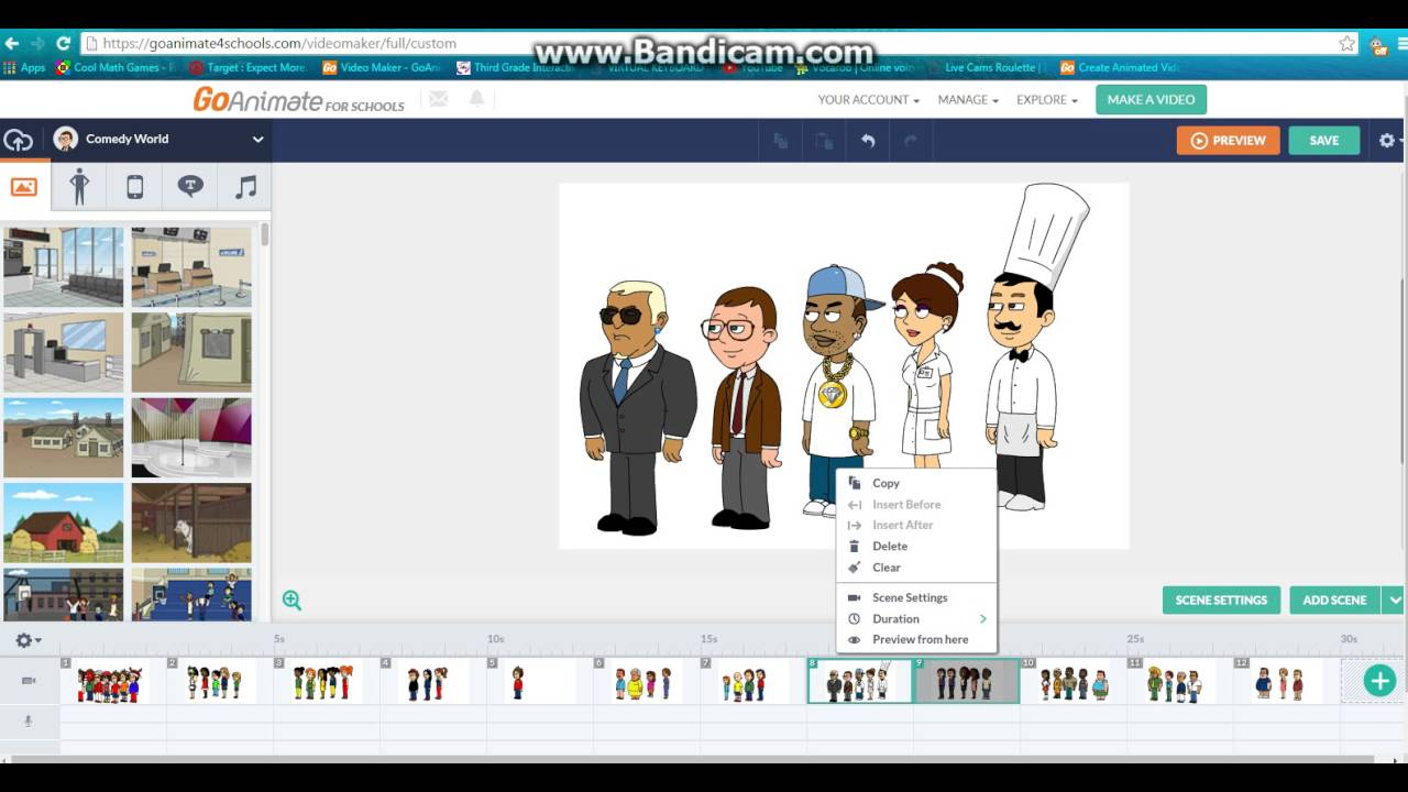 Save All My Characters On Goanimate For Schools - YouTube