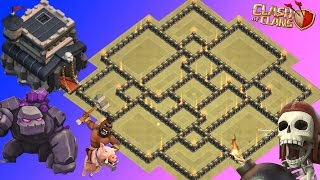 Th9 War Base 2017 Anti everything-Anti Valkyrie Anti Hog Anti Lavaloon Anti 3 Star Anti 2 Star