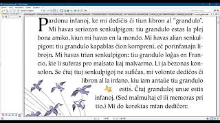 Esperanto with a  Little prince/ Dedication
