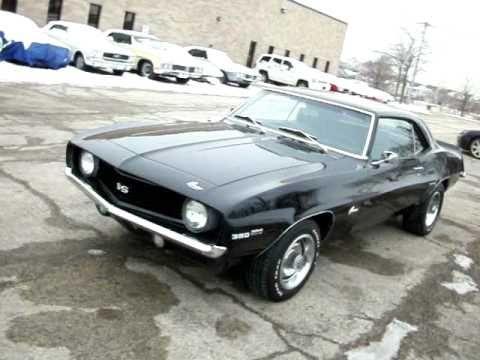 1969 Camaro Ss Black On Black American Muscle Cars Palatine Il 847
