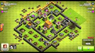 Clash of Clans Successful Defense Replays at Townhall Level 6 Part#1