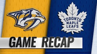 Ekholm, Rinne pace Preds in 4-0 win against Leafs