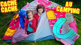 CACHE CACHE au CAMPING - HIDE and SEEK CHALLENGE _  Demo JOUETS