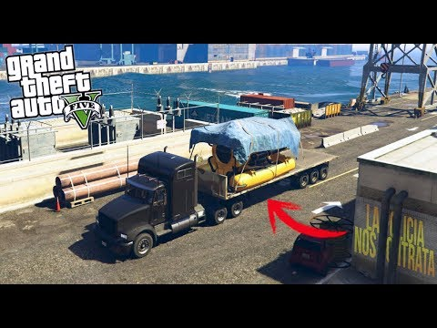 GTA 5|ROBO DE SUBMARINO - TRANSPORTANDO CARGAS|EdgarFtw thumbnail