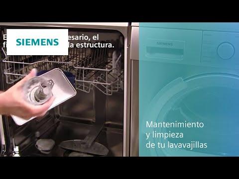 Mantenimiento y limpieza de tu lavavajillas Siemens.