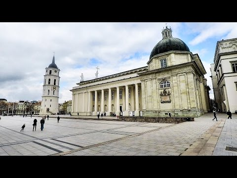 Vilnius, Lithuania. A Walk Around the City Centre and The Cathedral