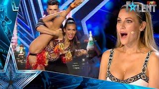 Una COLOMBIANA y un URUGUAYO arrasan con su BAILE | Audiciones 3 | Got Talent España 2021