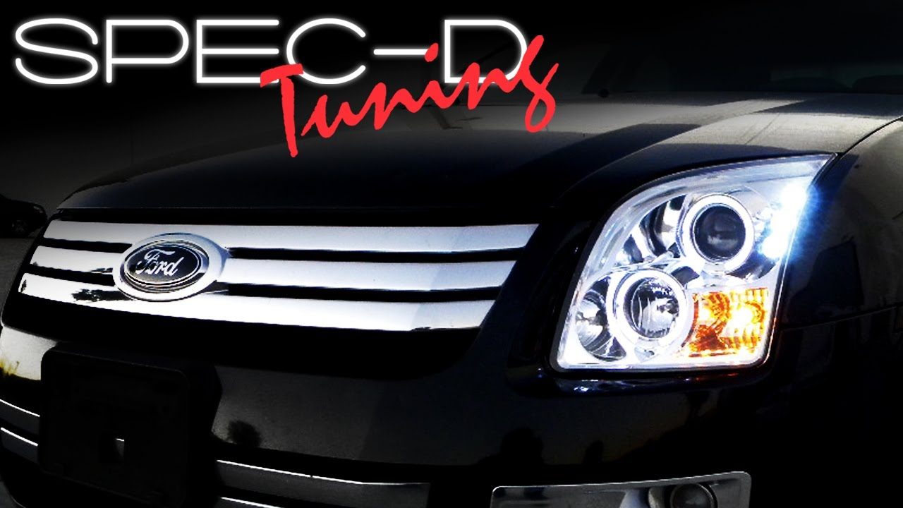 hight resolution of specdtuning installation video 2006 2009 ford fusion projector headlights youtube