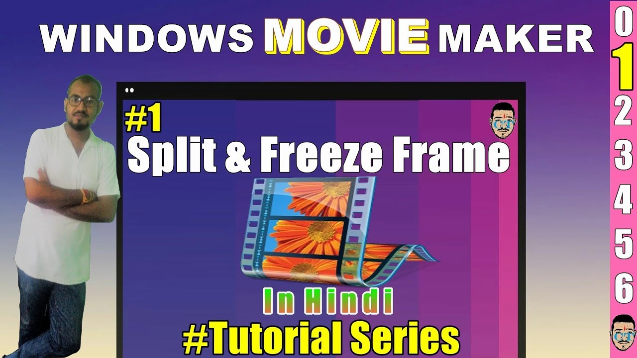 How to split a video and make a frame freeze in windows movie maker ...