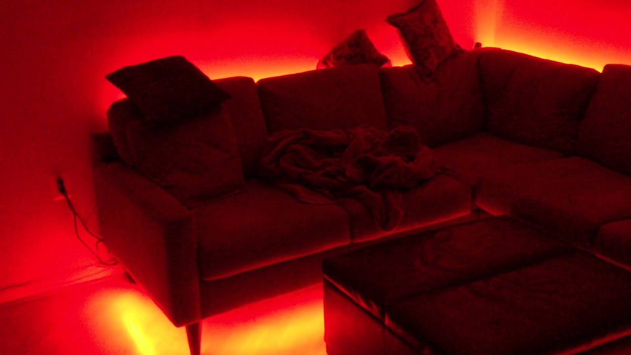 Charmant RGB LED Mood Lighting On Couch   YouTube