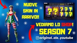 FORTNITE LIVE ITA - SHOP 21 DECEMBER SEASON 7 NEW SKIN NATALIZIE !!!!!
