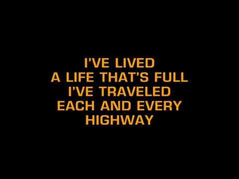 Frank Sinatra - My Way (karaoke version - msx)