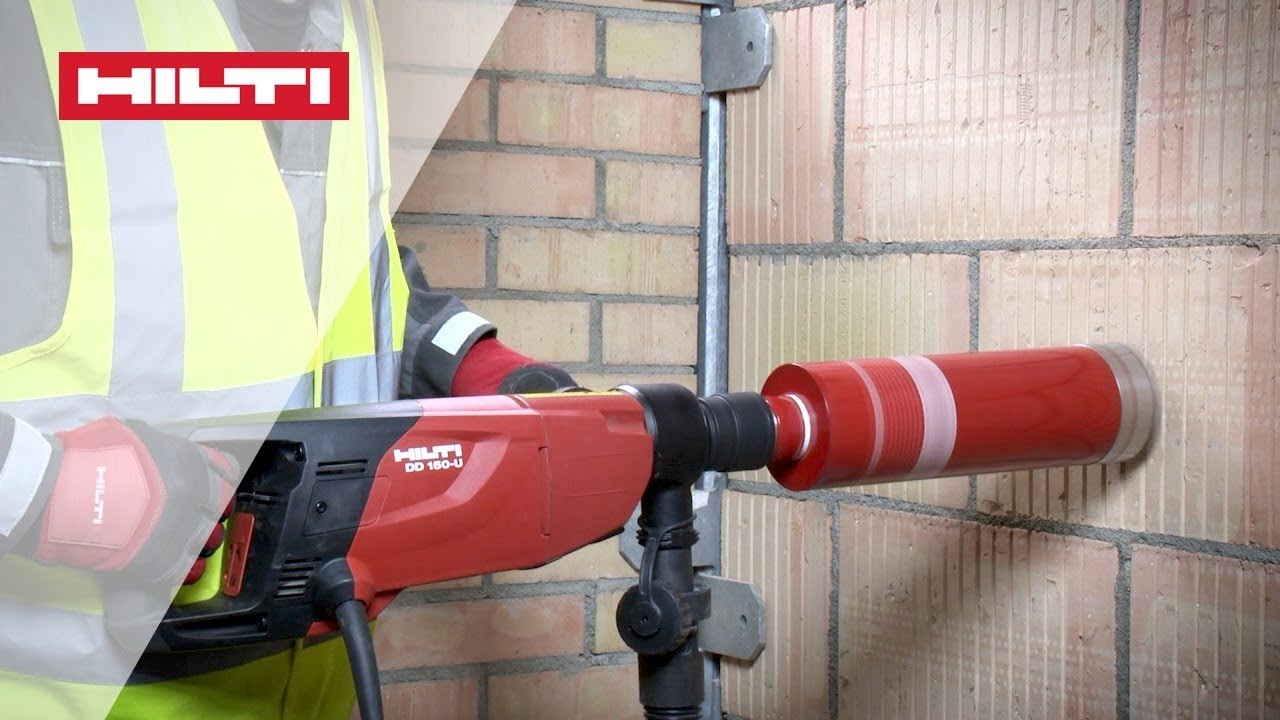 HOW TO use Hilti DD 150 coring tool for hand-held dry drilling in masonry