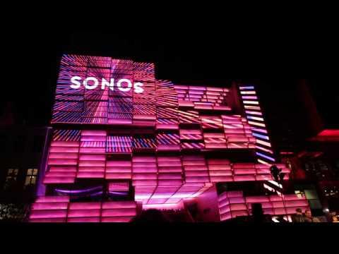 Klubhaus St. Pauli, Reeperbahn, Hamburg: Media Facade Advertising Sonos
