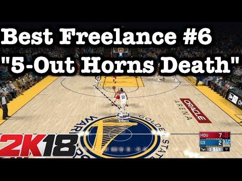 NBA 2K18 Tips Freelance Offense 2K18 Tutorial: Horns Freelance + Best 5 Out 2K18 Offense #30