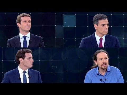 euronews (en español): España: primer debate electoral a cuatro