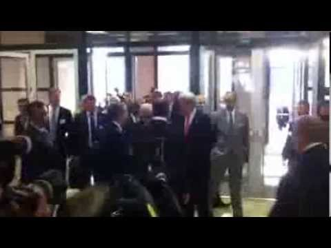 John Kerry & Sergey Lavrov enter Palais des Nations in Genev
