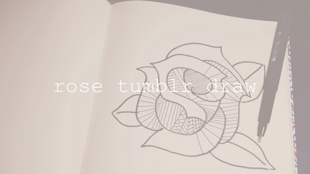 HOW TO DRAW A ROSE TUMBLR I Easy Drawing Starting From An S