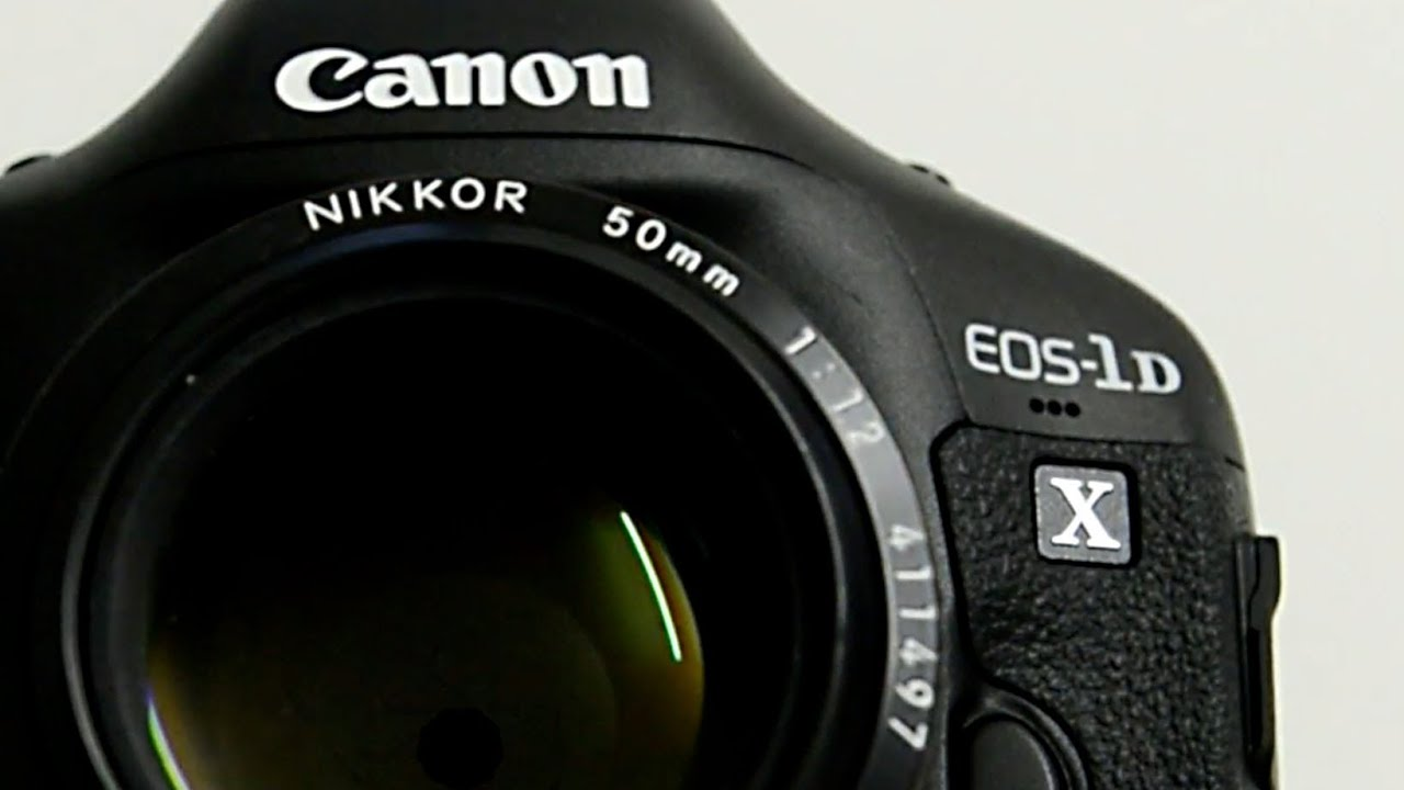 Nikon lens on Canon DSLR