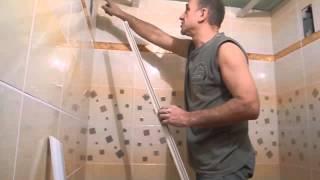 Монтируем подвесной потолок ч.2(В этом ролике показано как подогнать потолочный плинтус по углам и закрепить его на стене.Ролик относится..., 2013-12-08T12:37:45.000Z)