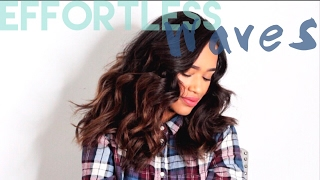 soft effortless beachy waves how to curl hair with a flatiron thebethmethod