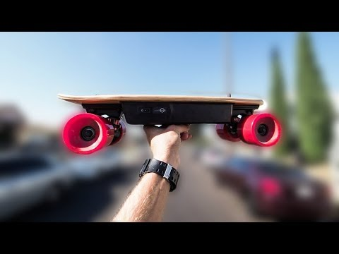 TINIEST Electric Skateboard  Kuickwheel Serpent C  YouTube