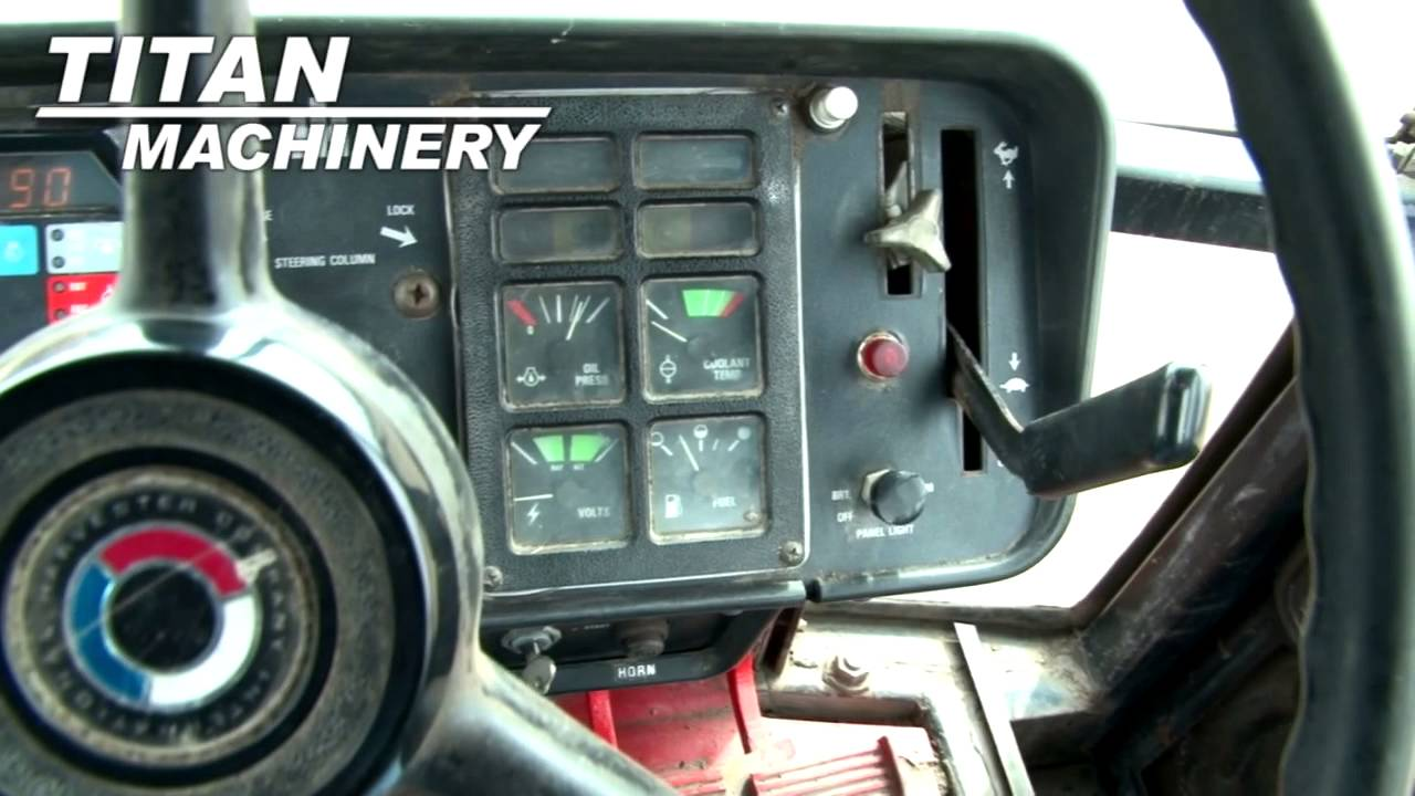 1086 Ih Interior : International tractor for sale youtube