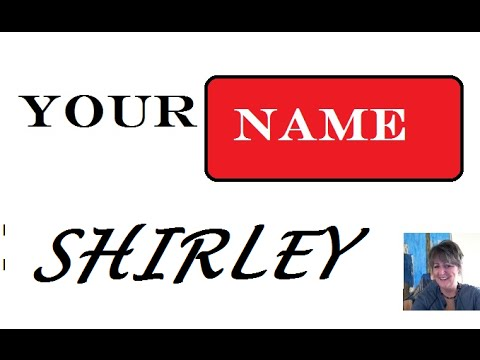 Shirley Name Meaning 1st. Name 🎥