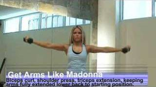 Madonna Arms Workout Video: Bicep Curl, Shoulder Press, Extension