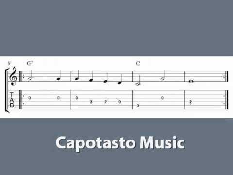 Song Of The Volga Boatmen - Guitar tablature