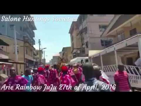 Arie Rainbow Juju odehlay in Freetown, Sierra Leone during independence parade