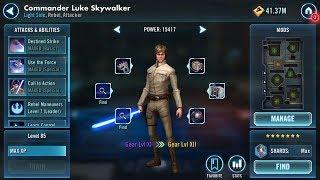 SWGOH: Commander Luke Skywalker - Hero's Journey