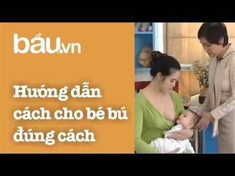 Tạp Chí Bầu - Hướng dẫn cách cho bé bú đúng cách