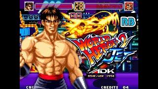 1994 [60fps] World Heroes 2 Jet Speedrun Dragon Expert ALL