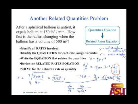 MAT 270 Mon Nov 28: Related Rates & Fund Thm Revisit
