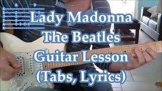 Lady Madonna, The Beatles. Guitar lesson (Tabs, Lyrics)