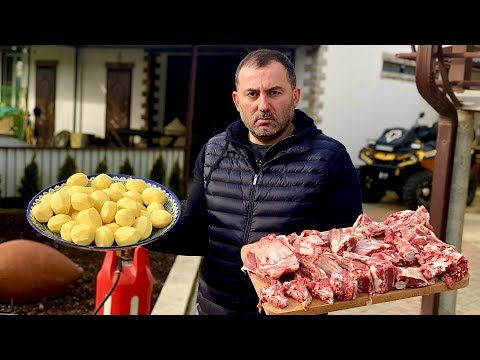 ENG SUBMEAT and POTATOES. KAZAN-KEBAB. ENG SUB