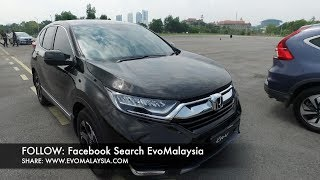 Evo Malaysia com | 2017 Honda CR-V 1.5 Turbo Comparison Driving & Walk Around Review