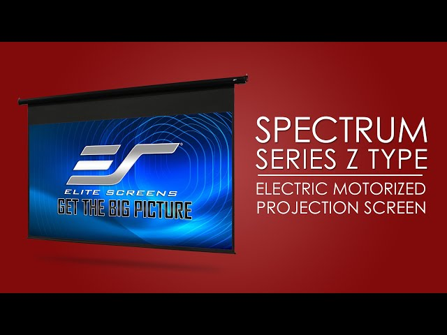 Elite Screens Spectrum Series - Electric Motorized Projector Screen Product Video