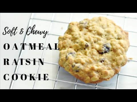 Soft And Chewy Oatmeal Raisin Cookie Recipe/Oatmeal Cookie In Five Simple Steps