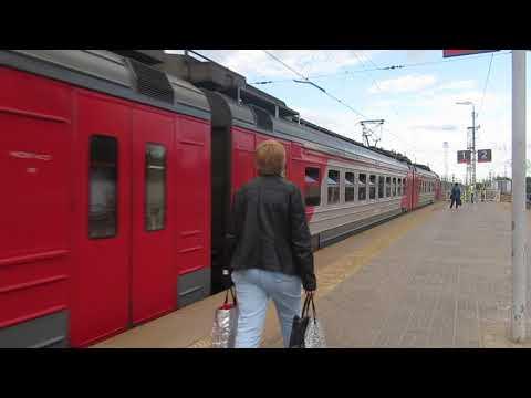 Электропоезда ЭД4М-0059\0450 станция Кубинка-1 2.07.2018