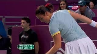 mattek sands Paris tennis  Eurosport 2 20110210 223929