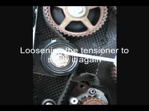 VW TDI engine ALH timing belt tensioner procedure