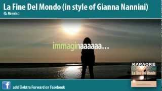 La fine del mondo - G.Nannini Karaoke
