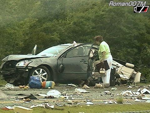 Car Accident, Crash Aftermath Highway, i40, NC, Авария, Avārija