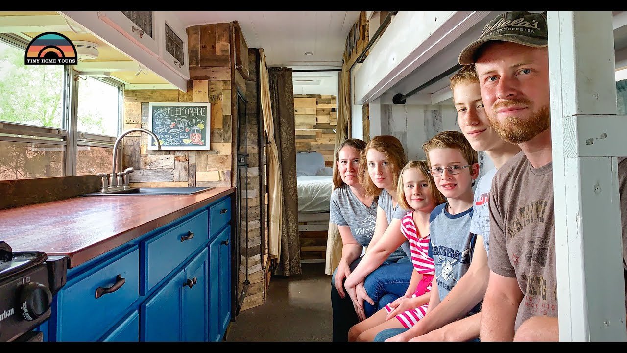 Family Sold Everything & Found Financial Freedom In Their DIY School Bus Conversion