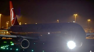 Nightspotting at Manchester Airport- Up Close Late Evening Departures Runway 05L