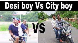 Desi boy vs city boy #Road fight by Amit bhadana